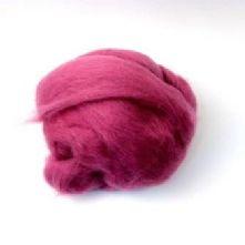 50g Pack of Fuchsia Pink 23 Micron Merino Wool Tops